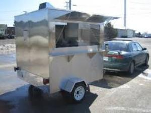 Mobile Food Cafe Trailer, Mobile Cart Trailer, Warung Bergerak, Toko Bergerak